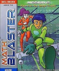 Math Blaster Mission 2: Race For The Omega Trophy Box Art