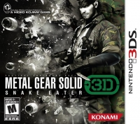 Metal Gear Solid: Snake Eater 3D Box Art