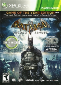 Batman: Arkham Asylum - Game of the Year Edition - Platinum Hits Box Art