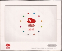 2011 Club Nintendo Gold Member Reward - 2012 Calendar Box Art