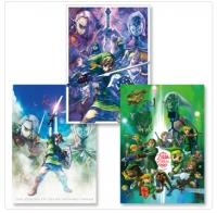 Club Nintendo Zelda 25th Anniversary 3 Poster Set Box Art