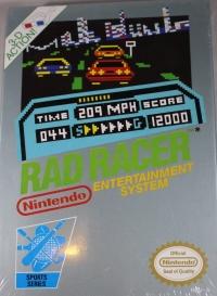 Rad Racer (3 screw cartridge, oval seal) Box Art