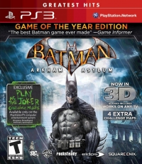 Batman: Arkham Asylum - Game of the Year Edition - Greatest Hits Box Art