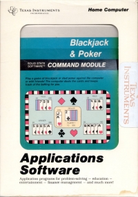 Blackjack and Poker Box Art