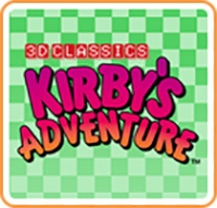3D Classics: Kirby's Adventure Box Art