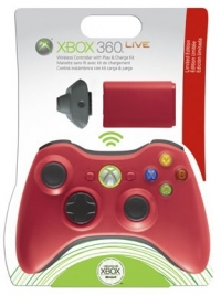 Microsoft Wireless Controller with Play and Charge Kit (red) Box Art