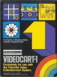 Videocart  1: Tic-Tac-Toe / Shooting Gallery Box Art