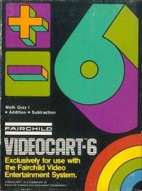 Videocart  6: Math Quiz I Box Art