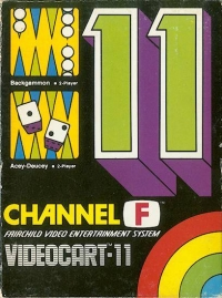 Videocart 11: Backgammon Box Art