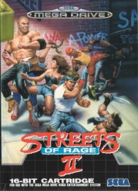 Streets of Rage II Box Art