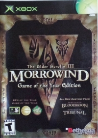 Elder Scrolls III, The: Morrowind - Game of the Year Edition Box Art