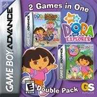 2 Games in 1 Double Pack: Dora the Explorer: The Search for Pirate Pig's Treasure / Dora the Explorer: Super Star Advent Box Art