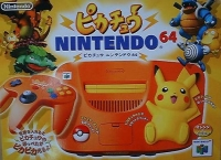 Pikachu Nintendo 64 - Orange & Yellow [JP] Box Art