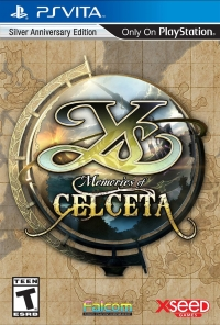 Ys: Memories of Celceta - Silver Anniversary Edition Box Art