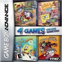 4 In 1: SpongeBob SquarePants: SuperSponge, Nicktoons Freeze Frame Frenzy, Fairly Oddparents Shawdow Box Art