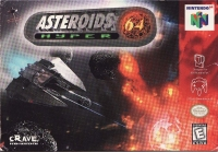 Asteroids Hyper 64 Box Art