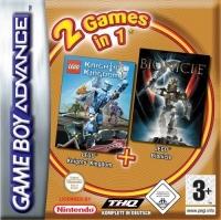 2 Games In 1: Lego Knights Kingdom + Lego Bionicle Box Art
