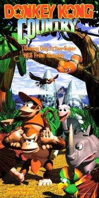 Donkey Kong Country Nintendo Power Poster Box Art