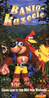 Banjo-Kazooie Nintendo Power Poster Box Art