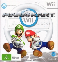 Mario Kart Wii (Wii Wheel Included) Box Art