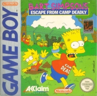Bart Simpson's Escape from Camp Deadly Box Art