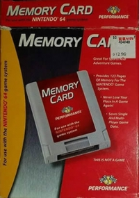 Performance Memory Card Box Art