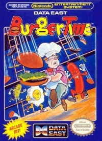BurgerTime (3 screw cartridge) Box Art