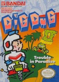 Dig Dug II: Trouble In Paradise Box Art