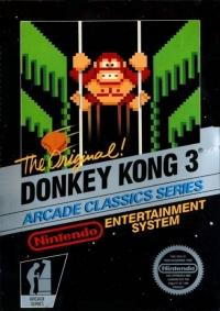 Donkey Kong 3 - Arcade Classics Series (5 screw cartridge) Box Art