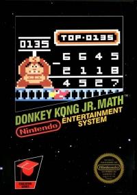 Donkey Kong Jr. Math (3 Screw Cartridge) Box Art