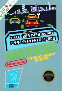 Rad Racer (5 Screw Cartridge) Box Art