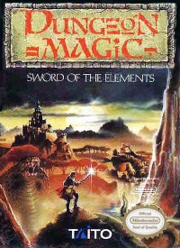 Dungeon Magic: Sword of the Elements Box Art