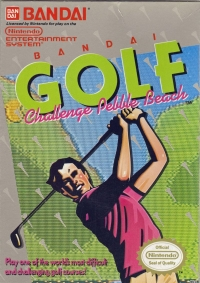 Bandai Golf: Challenge Pebble Beach (oval seal) Box Art
