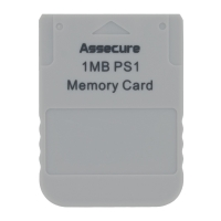 Assecure 1MB PS1 Memory Card Box Art