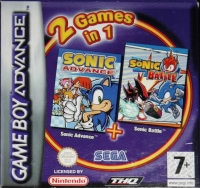 2 Games in 1: Sonic Advance + Sonic Battle Box Art