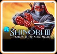 3D Shinobi III: Return of the Ninja Master Box Art