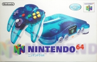 Nintendo 64 - Clear Blue [JP] Box Art