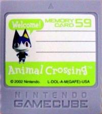 Nintendo Memory Card 59 - Animal Crossing Box Art