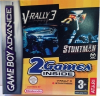 2 Games Inside: V-Rally 3 / Stuntman Box Art
