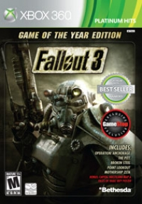 Fallout 3: Game of the Year Edition - Platinum Hits (Gamestop) Box Art
