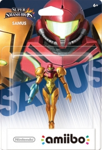 Samus - Super Smash Bros. (gray Nintendo logo) Box Art