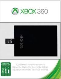 500GB Media Hard Drive for Xbox 360 Box Art