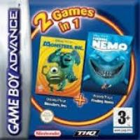2 Games in 1: Disney/Pixar: Monster & Co. + Disney/Pixar: Finding Nemo Box Art