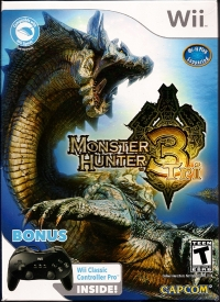 Monster Hunter Tri (Bonus Wii Classic Controller Pro Inside) Box Art