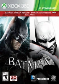 Batman: Arkham Asylum + Batman Arkham City Dual Pack Box Art
