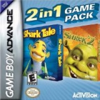 2 in 1 Game Pack: DreamWorks Shark Tale / Shrek 2 Box Art