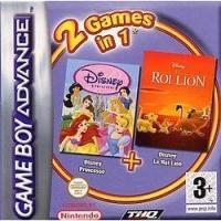 2 Games in 1: Disney Princess + Disney Le Roi Lion Box Art