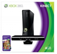 Microsoft Xbox 360 4GB Console with Kinect Box Art