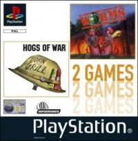 2 in 1 Game: Hogs of War & Worms Box Art