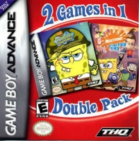 2 Games in 1 Double Pack: Spongebob Squarepants: Battle for Bikini Bottom / Nicktoons: Freeze Frame Frenzy Box Art